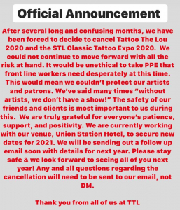 Tattoo The Lou Convention 2020